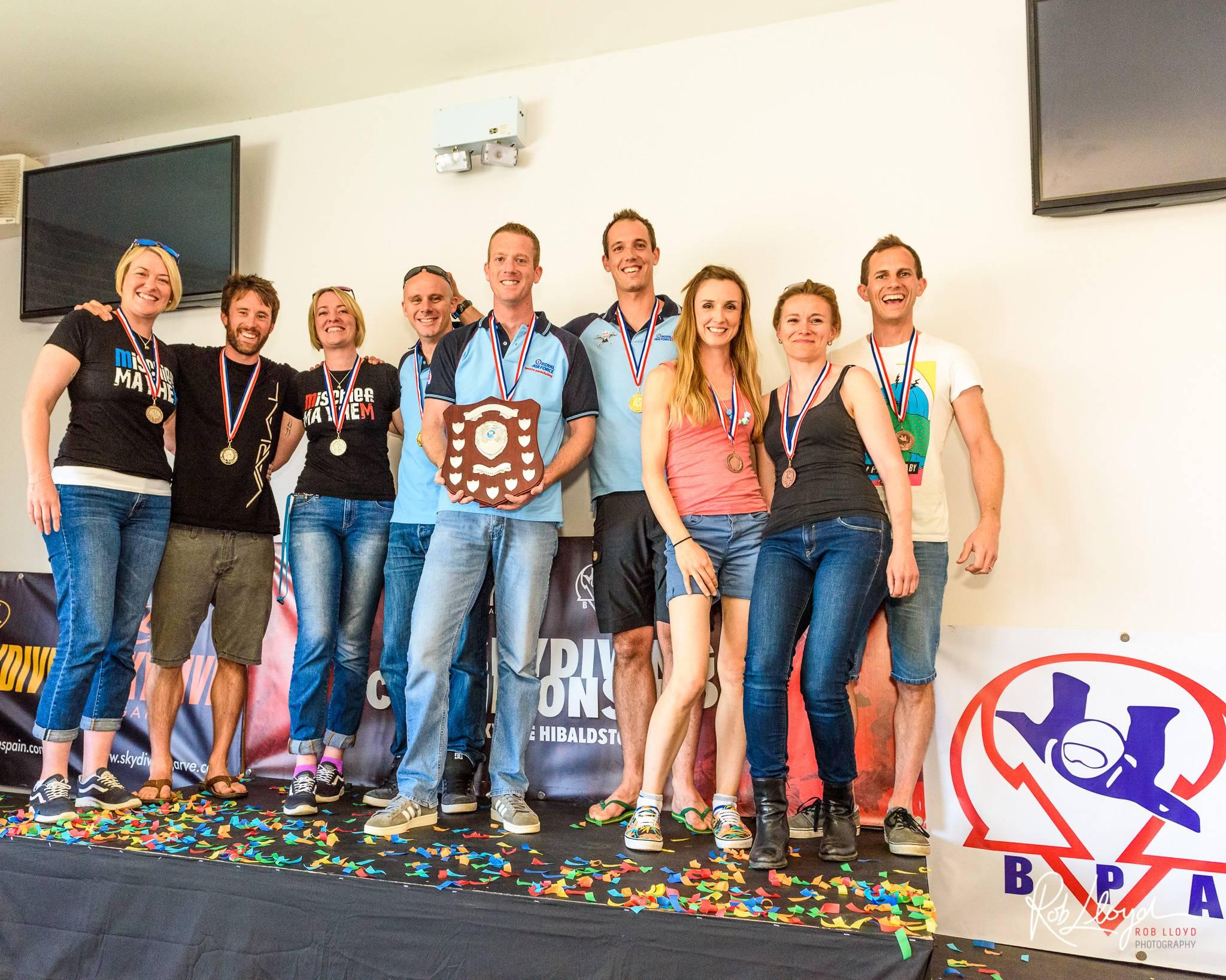 Freefly B  medallists