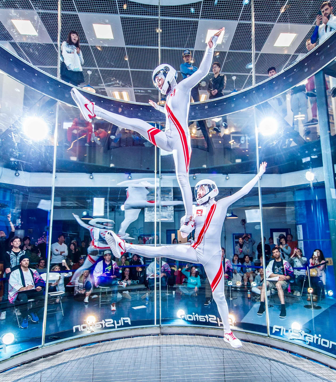 Kyra Poh flying 2-way Dynamic Free Round with her partner, Yi Xuan, at the Sakura Cup, Japan