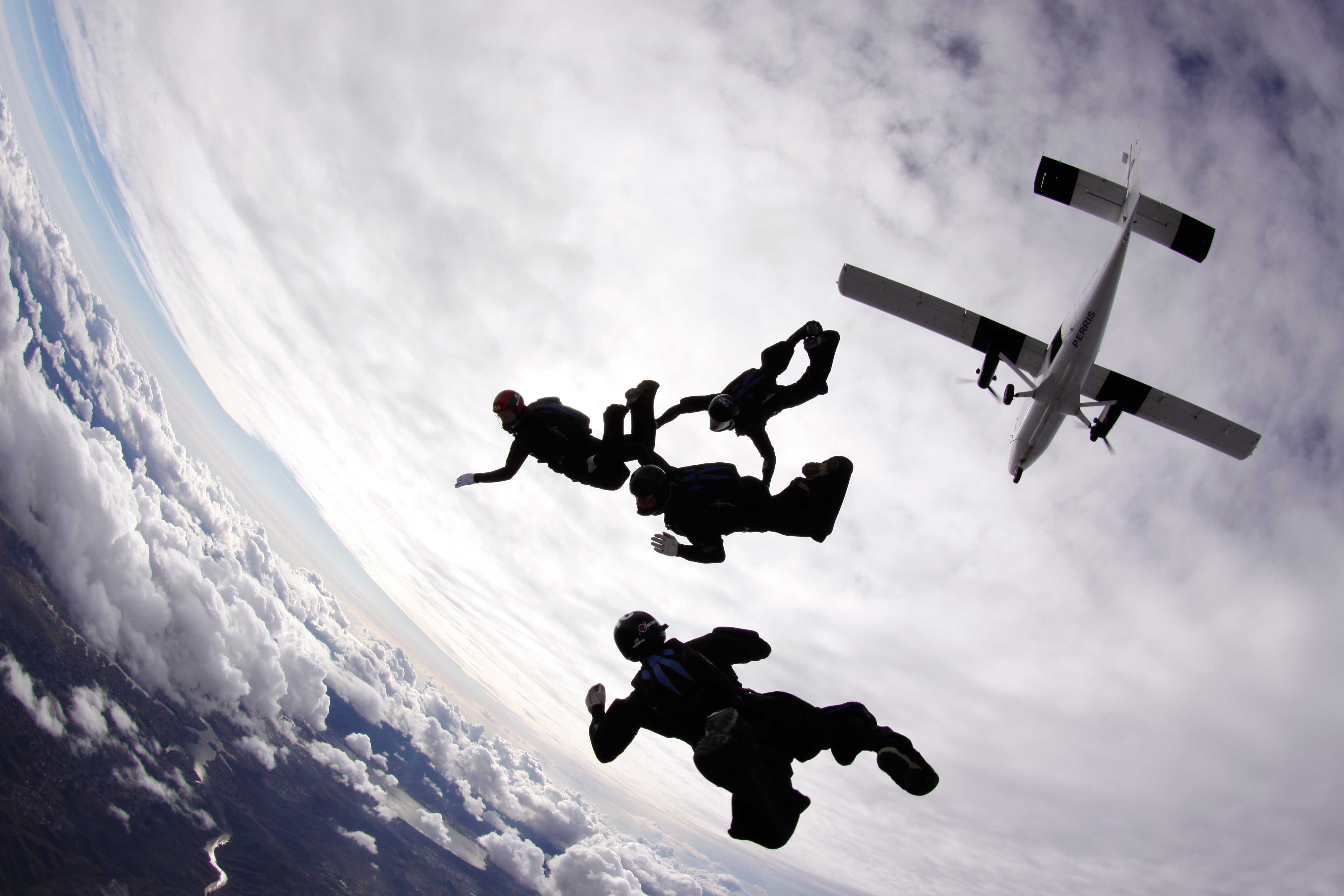 Perris Fury training over Skydive Perris