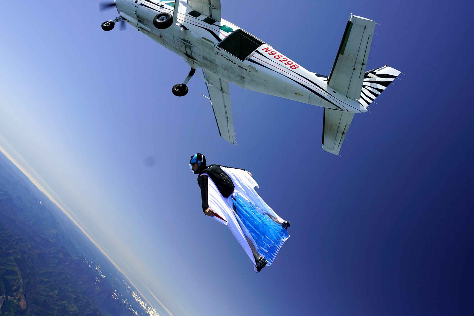 In single engine aircraft such as the Caravan (pictured), cutting the power during the wingsuit segment of jump run is very important