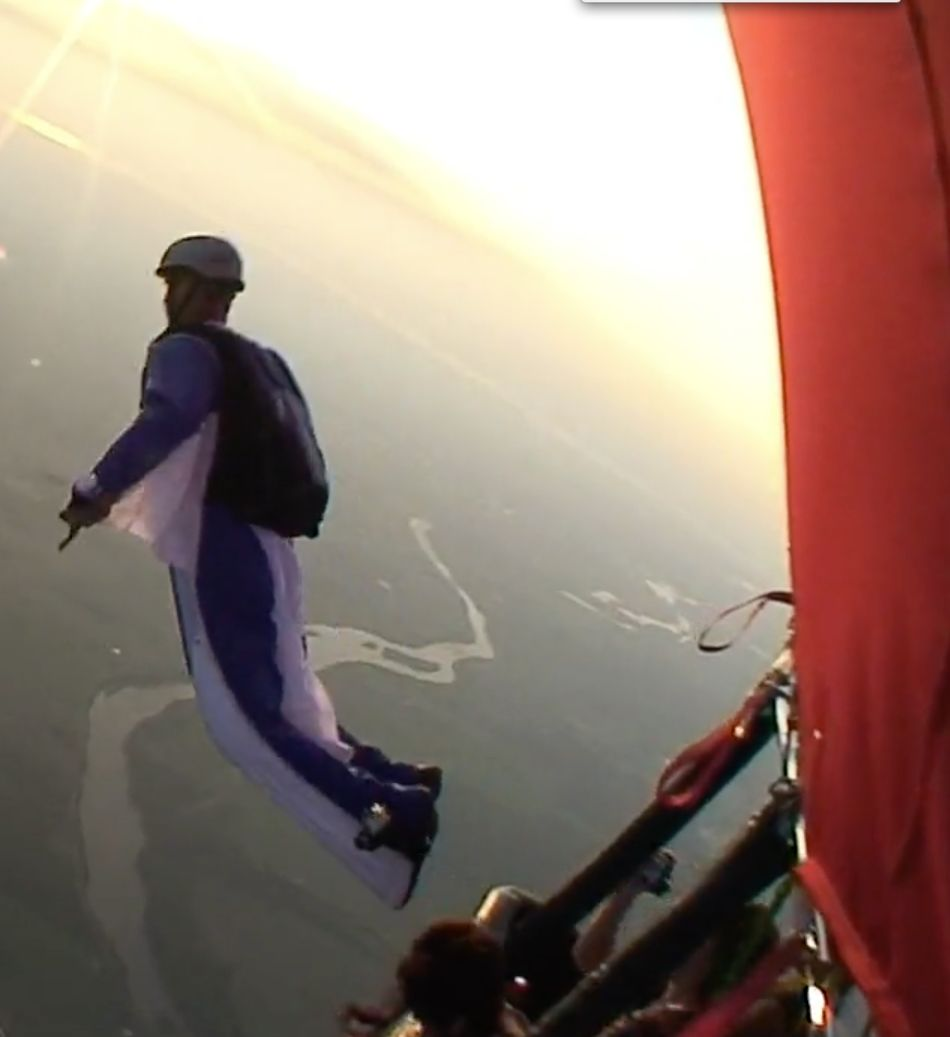 Avoid head-high exit, not good for wingsuit base