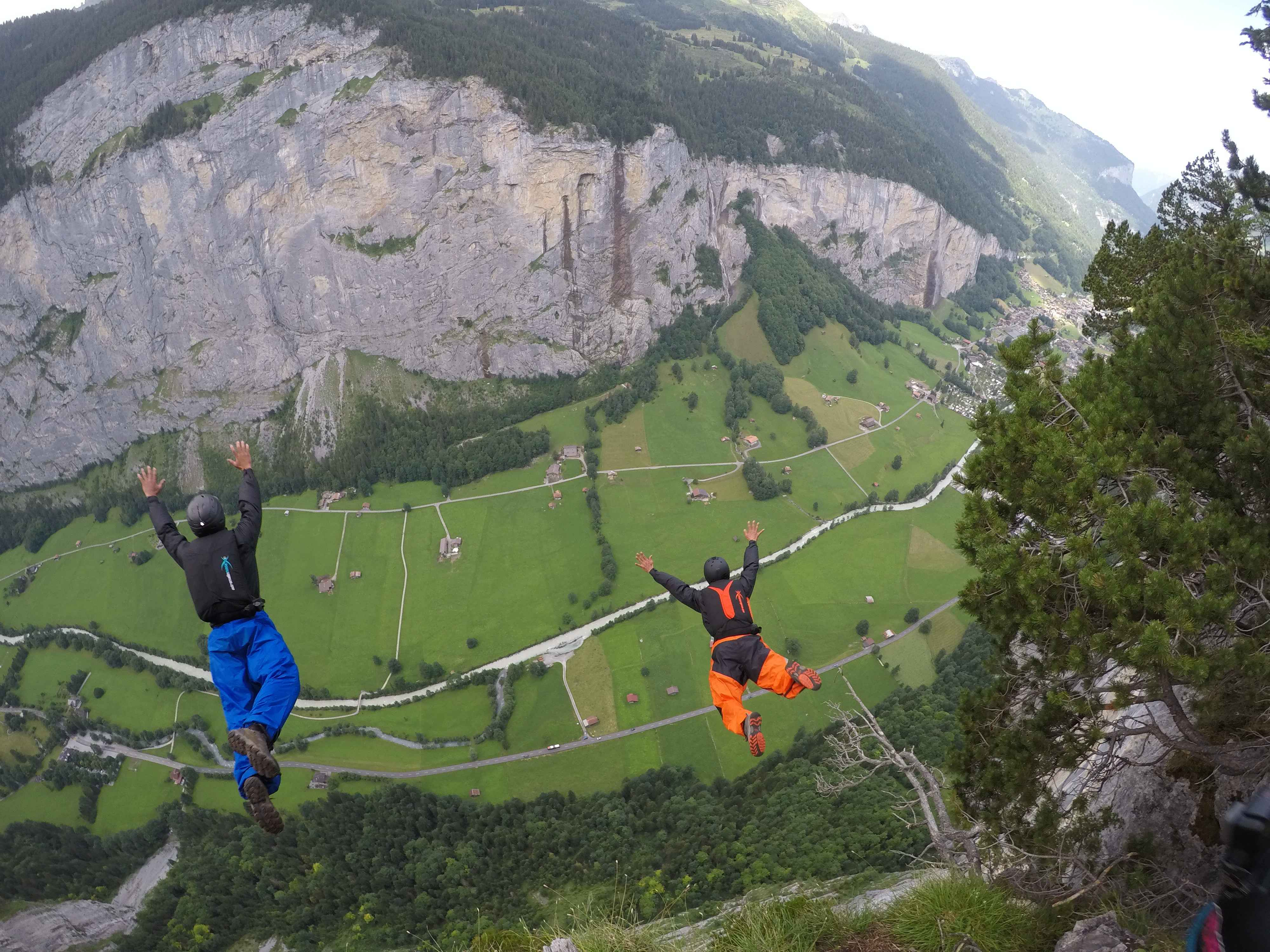 Lauterbrunnen is a BASE paradise but technical and should be approached with respect and caution