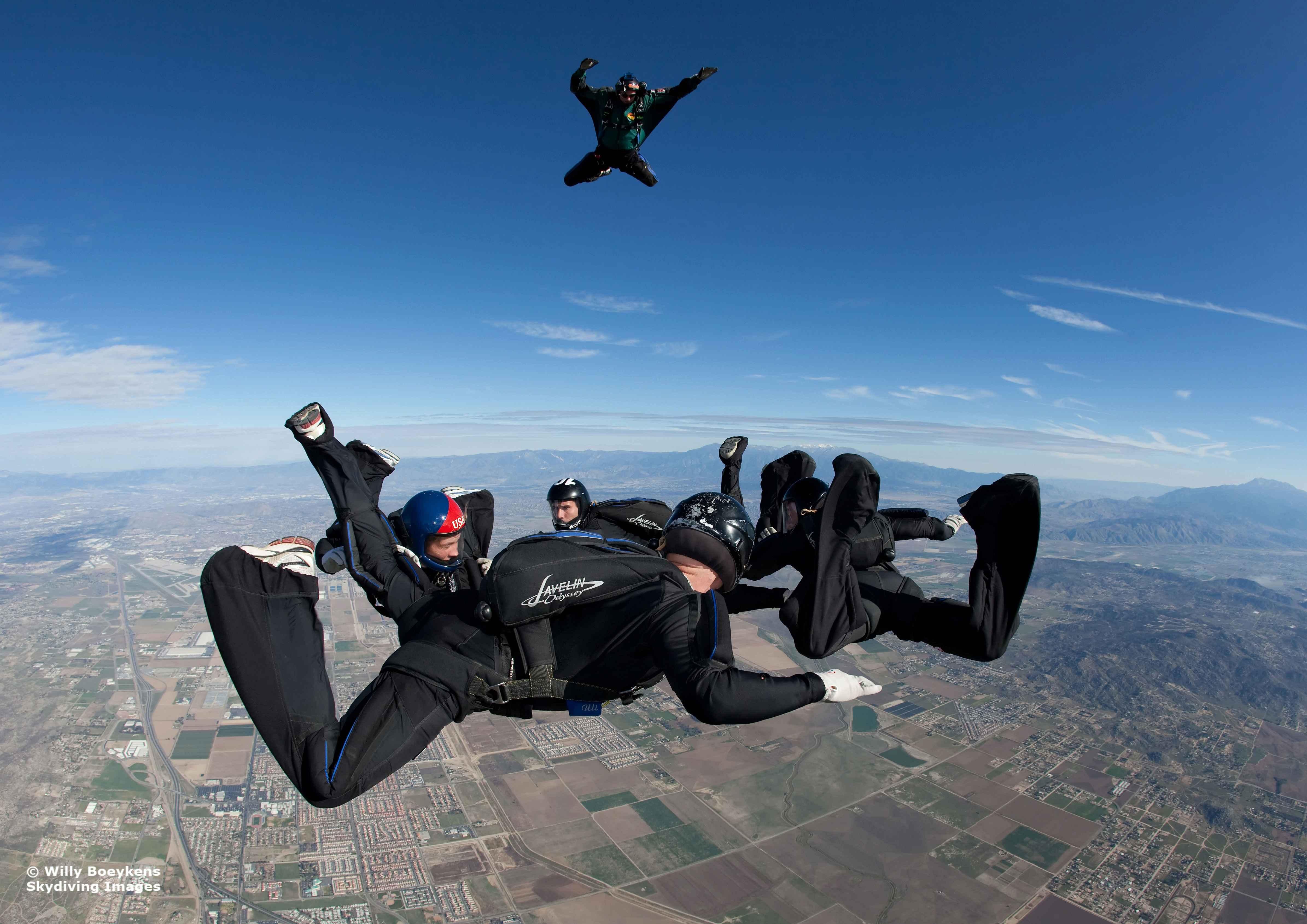 An all random jump has a nice steady pace