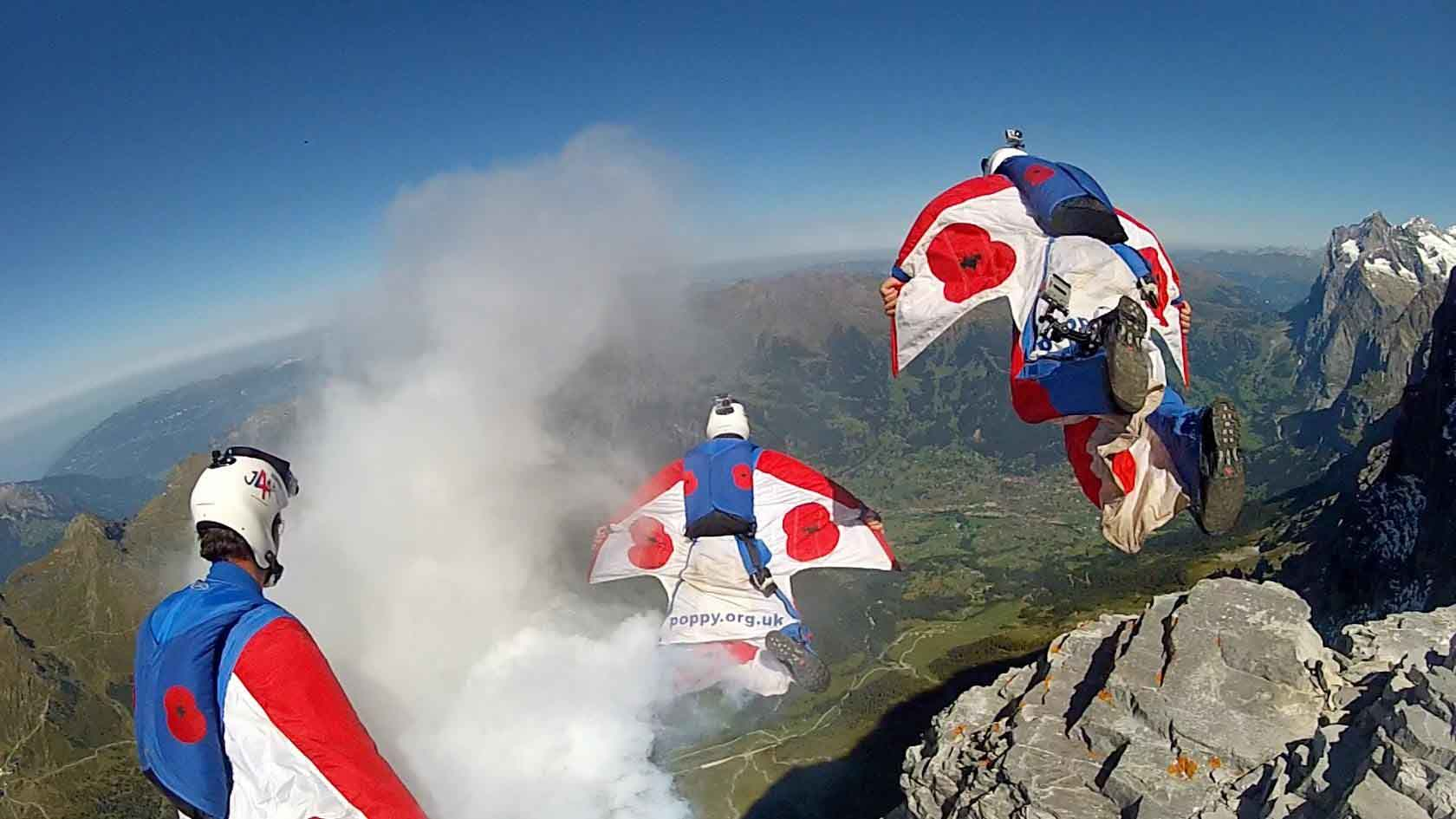 Eiger exit for Jump4Heroes