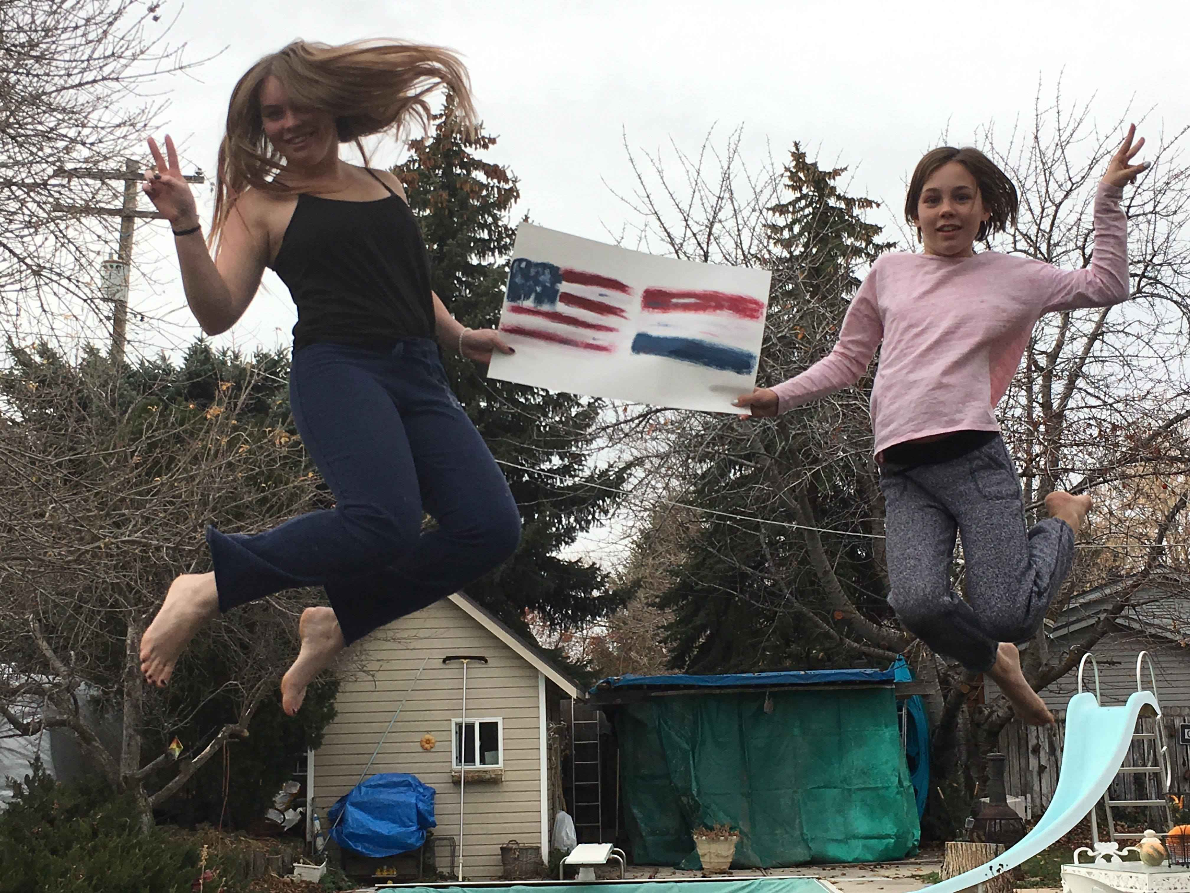The Mannings – jumping for joy and for Axel's World Peace Movement
