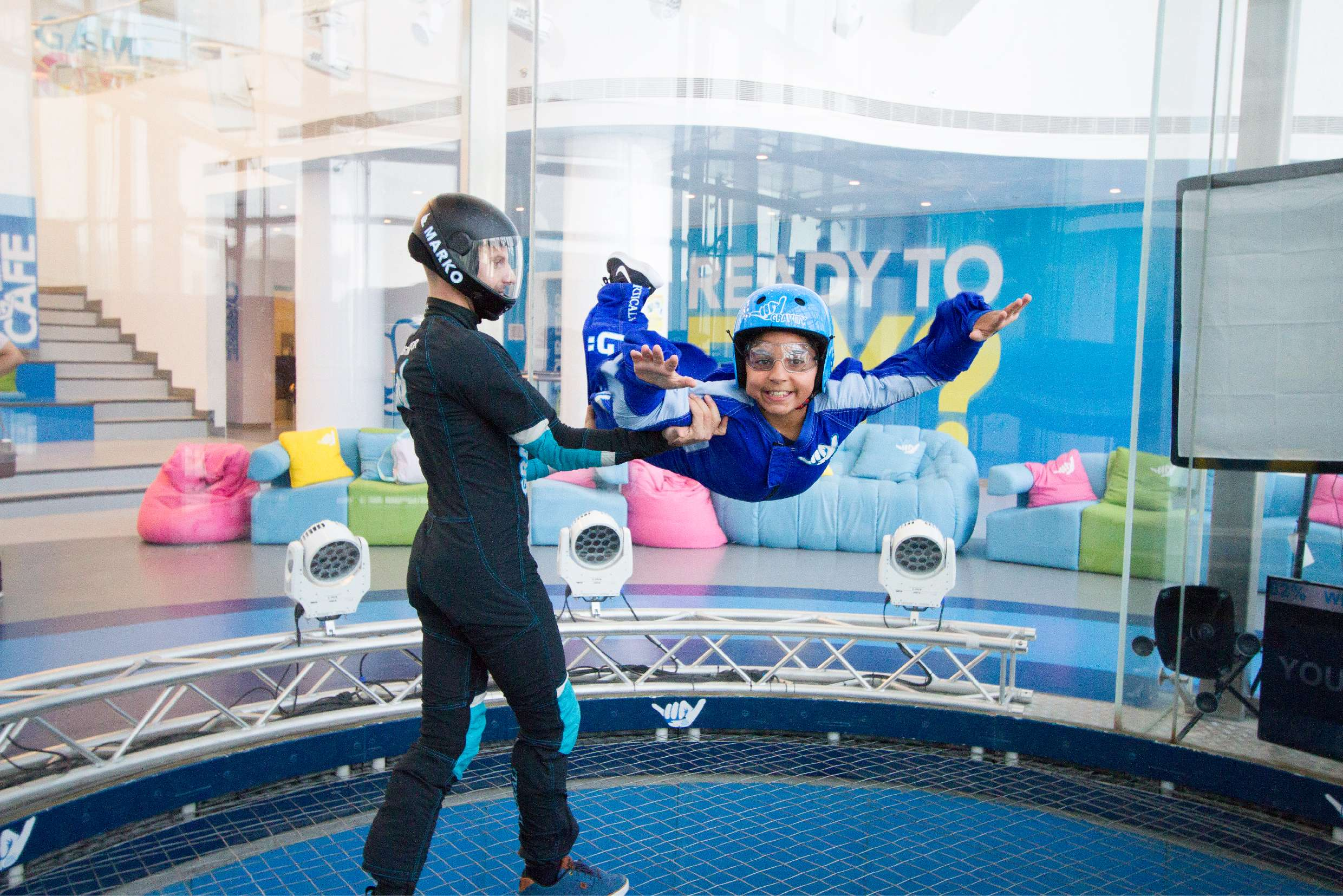 All generations can adapt to indoor skydiving, making a day at the wind tunnel a great family day out