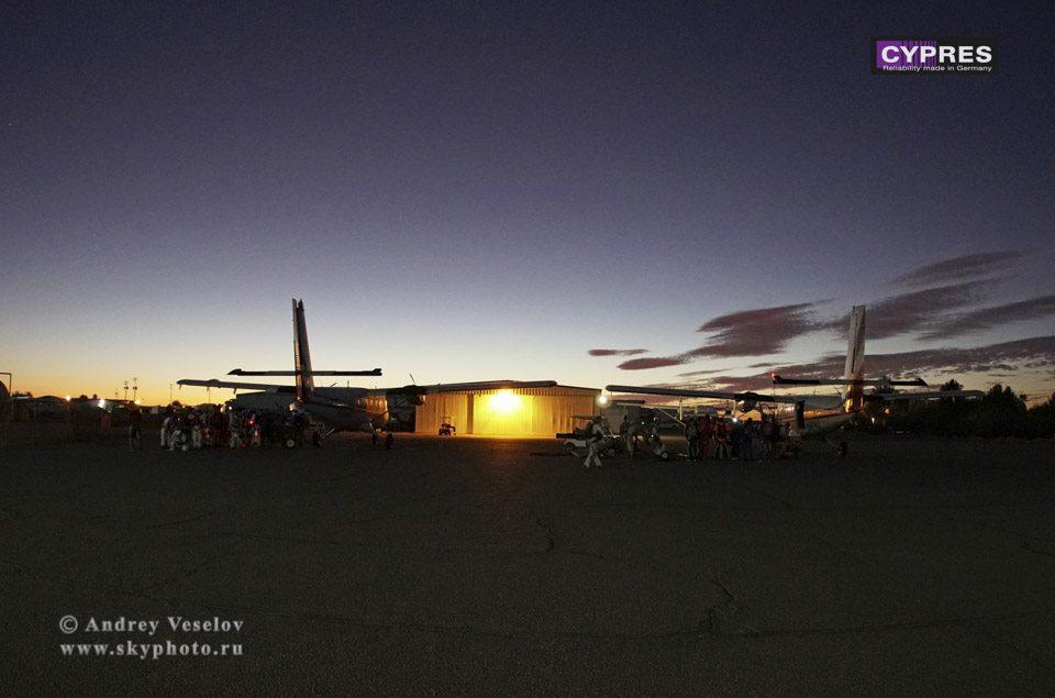 Loading the aircraft at Skydive Arizona for a twilight jump