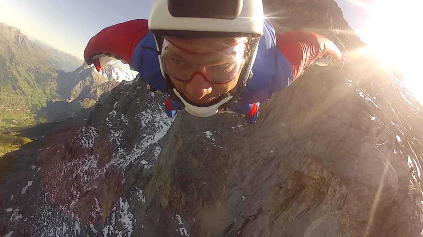 Alastair above the Eiger