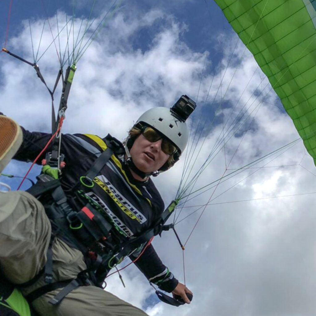 paraglide wing tim parrant landing feet impact wow
